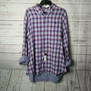 NWT Ralph Lauren Pony Men's Flannel Shirt L, XL